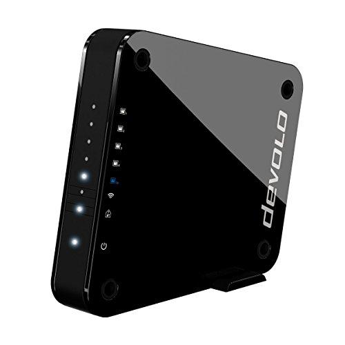Wlan-ethernet-adapter-brücke (devolo GigaGate WLAN Bridge Einzeladapter (2 Gbit/s, 1x Highspeed Gigabit Port, 4x Fast Ethernet Ports, Verbindung per 5GHz-Band, Highend-Multimedia-Erlebnis, AES Verschlüsselung) schwarz)