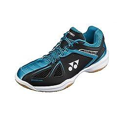 Yonex Power Cushion SHB 35EX Badminton Shoes, UK 6 (Black/Blue)