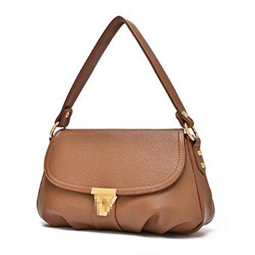 Lady Fashion Schultertasche Pu-leder Satchel Crossbody Tasche Mini Einkaufstasche Für Frauen Multicolor Khaki
