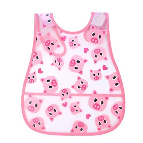 VJGOAL Hohe Qualität Cute Kid Infant Lätzchen Baby Soft Cartoon Lätzchen Wasserdichte Speichel Tropfende Lätzchen(R,One ()