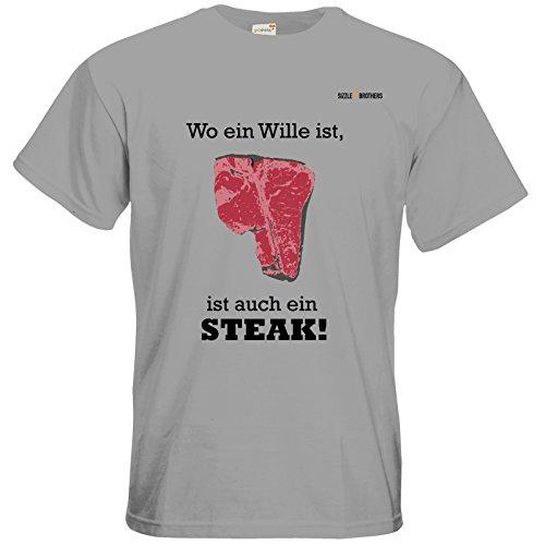 getshirts - SizzleBrothers Merchandise Shop - T-Shirt - SizzleBrothers - Grillen - ...ist auch ein Steak pacific grey