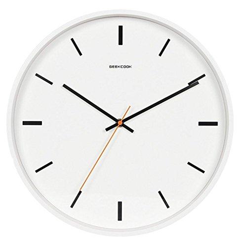 MagiDeal Horloge Murale Ronde Simple Non-coutil Silencieuse Facile à Lire - Blanc 14 pouces