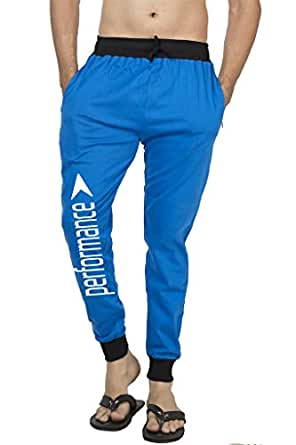 Clifton Mens FRL Printed Coloured Slimfit Trackpant-Royal Blue-Wht Performance-S