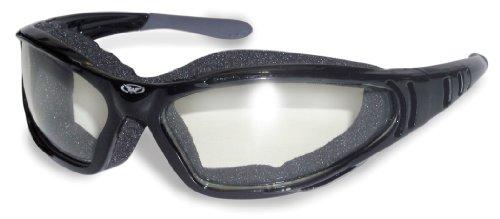 Global Vision Motorrad Rundum Sonnenbrillen mit Stoff bedeckt Schaumstoffpolsterung und deaktivieren Sie bruchsicher UV400 antifog-Objektive mit freien Microfaser Aufbewahrungstasche abzuschließen.