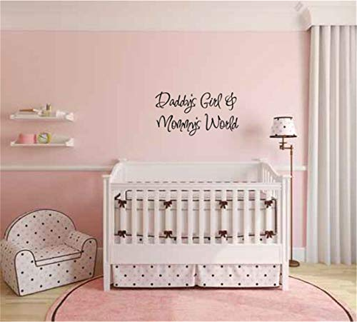 wandaufkleber baum foto wandaufkleber sterne rosa Wall Decal Quote Daddy'S Girl And Mommy'S World For Living Room Bedroom Daddy Sterne