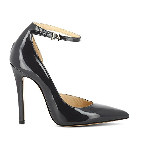 4cxocdq8 Femme Verni Escarpins Chaussures Lisa Gris Cuir OAOXzw