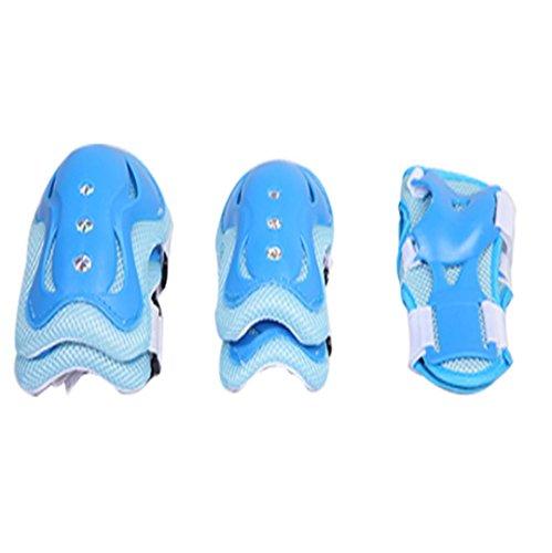 MZP Sport genou genou papillon vélo Skate protections poignet Protections enfance patinage . blue