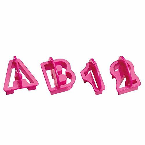 Image of KAISER Alphabet- & Ziffern- Ausstecher-Set 36-teilig Ausstecher Inspiration Sweet & Style 36 teilig Ausstecher es Buchstaben- und Zahlen-Ausstecher-Set zeitlos-modernes Schriftbild ergonomischer Haltegriff