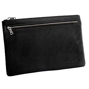 Harolds – Banktasche Geldtasche Scheckbuch Dokumententasche Reisepasstasche (Schwarz – Groß) – präsentiert von ZMOKA®