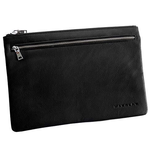 Harolds - präsentiert von ZMOKA Harolds - Banktasche Geldtasche Scheckbuch Dokumententasche Reisepasstasche (Schwarz - Groß) - präsentiert von ZMOKA®