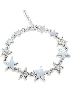 Armband Stern mit Kristallen von Swarovski® Silber Crystal - NOBEL SCHMUCK