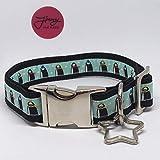 Jimmy und Katz Hundehalsband Pinguin 35cm - 58cm x 2,5cm