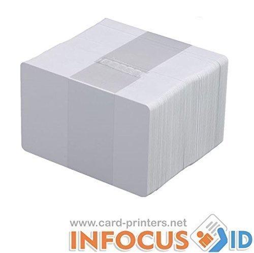 Pvc-karten-drucker (100 x Blank weiß PVC Plastik Karten CR-80 30mil für alle ID Drucker)