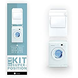 Kit superposition simple pour lave-linge et sèche-linge