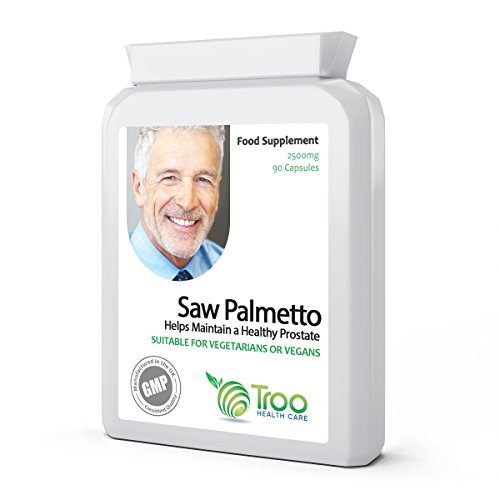 Saw Palmetto 2500mg 90 Capsules - Urinary Tract and Prostate Health Support Supplement for Men Test