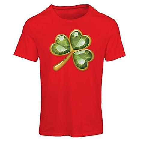 Frauen T-Shirt Irish shamrock St Patricks day clothing (XX-Large Rot