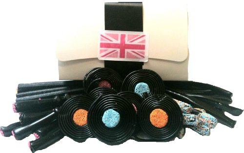 Cranch's Old Fashioned Liquorice Gift Box - Liquorice Wands, Pipes, Catherine Wheels