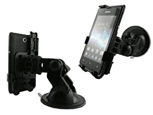 Mobilitii 2 in 1 Set Auto Kfz Halterung inkl. Autoladekabel für Medion Life X4701 MD98272