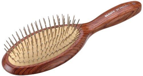Pfeilring-Spazzola pneumatica per capelli, in legno di palissandro con cuscino e chiaro con metallo penne, matite, 23cm, 9file