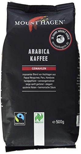 Mount Hagen Bio Arabica Kaffee gemahlen, 500 g