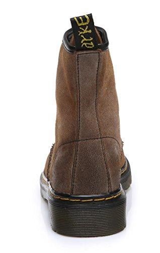 uBeauty - Bottines Femme - Chaussure Sport Femme - Bottes Cuir Vache - Chaussures Classiques - Bottines À Lacets Marron