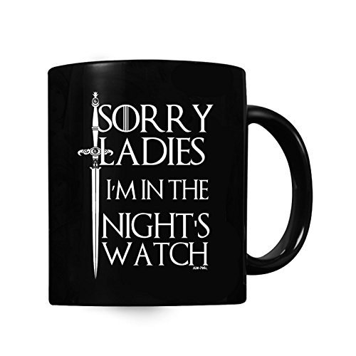 Herren Lustige Nights Watch Game of Thrones Inspired Sweatshirt, Becher Geschenk-Set -