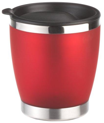 Emsa 504843 CITY CUP - Tasse isotherme- avec couvercle, 180 ml, rouge translucide