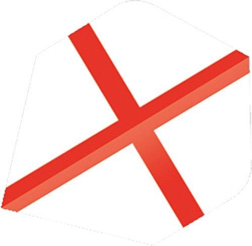 Unicorn Maestro Range St George Professionelle Spieler England Flagge Form Flights - Weiß / Rot, Plus -
