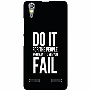 Lenovo A6000 Back Cover - Do It Designer Cases
