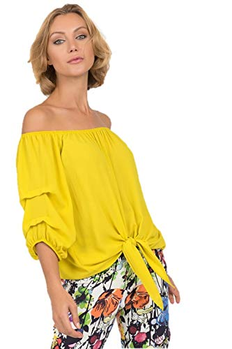 Joseph Ribkoff Chartreuse Top Style - 191257 Spring Summer 2019