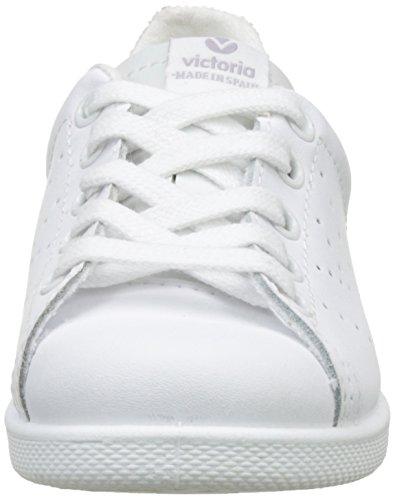 victoria Unisex-Kinder Deportivo Basket Piel Flach Weiß (Blanco)