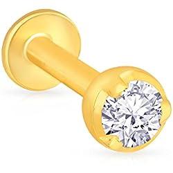 Malabar Gold & Diamonds 22KT Yellow Gold and Diamond Nose Pin for Women
