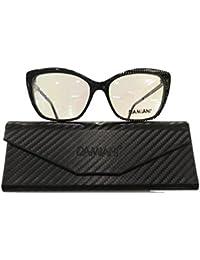 Damiani Monture de lunettes - Femme Noir Nero Screziato 54 a5543ab12108
