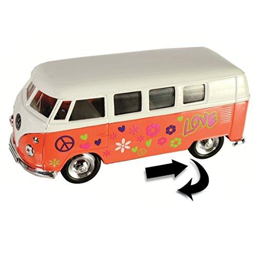 Modellino bus welly-1/32 volkswagen 62' arancione