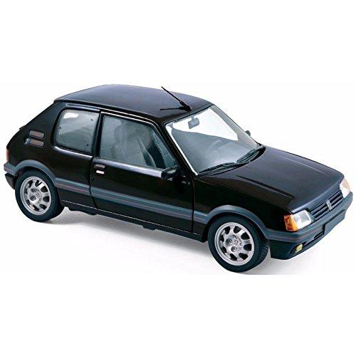 Norev- Peugeot 205 GTI 1.9L-1988-Echelle 1/18, 184854, Noir