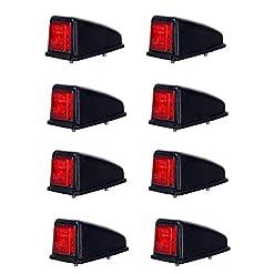 8x 3SMD LED rosso tetto luce di posizione posteriore luce di indicatore laterale 12V 24V e-contrassegnato auto camion rimorchio camper caravan Van Tail Cab top universale