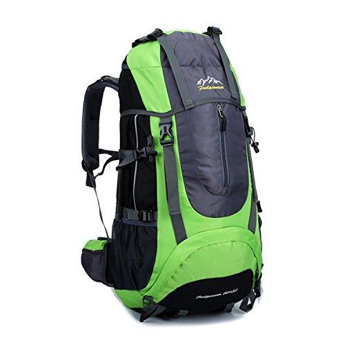Young & Ming - Supergroßes 65L Unisex Rucksäcke Im Freien Wandern Klettern Freizeit Trekkingrucksäcke Outdoor Taschen Radfahren Reiten Reisetaschen wasserdicht Backpack Grün1