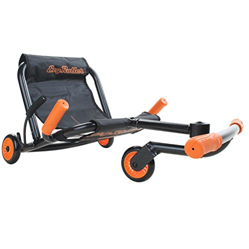 EzyRoller Classic Kinderfahrzeug Dreirad Sitz Spielzeug, Farbe:schwarz/orange