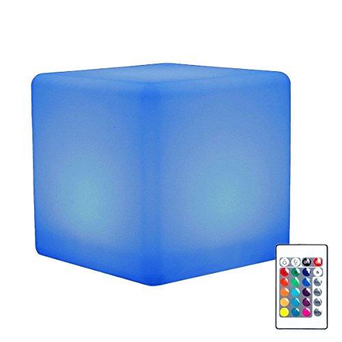 """LED Kugellampe, EONSMN 10"""" Leuchtkugel Gartenkugel Stimmungslicht multicolor RGB mit Farbwechsel und Fernbedienung aufladbar (10cm)"""