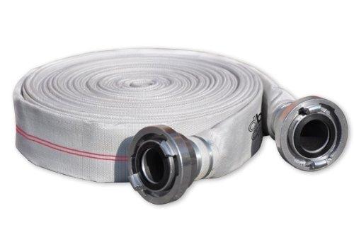 Bradas WLHSD2520 Bauschlauch Superline Wasser-Flachschlauch 1 Zoll, 20 m mit D-Storz Kupplung, 10 Bar, weiß, 20 x 20 x 5 cm