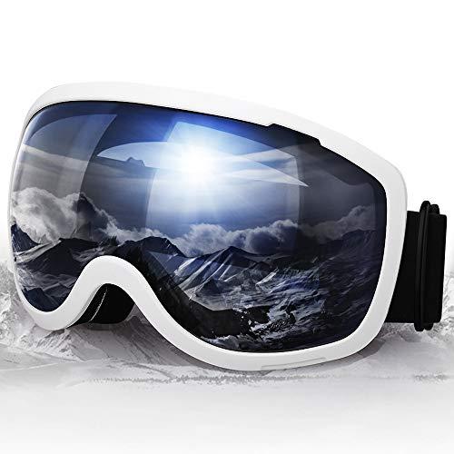 Elegear Verspiegelt Skibrille Anti-Fog Snowboard Brille Ski Goggles für Herren Damen