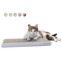 AMZNOVA rascador de Gato para cama y sofá almohadillas rascadores para gatos de carton reciclado corrugado gato rascando salón