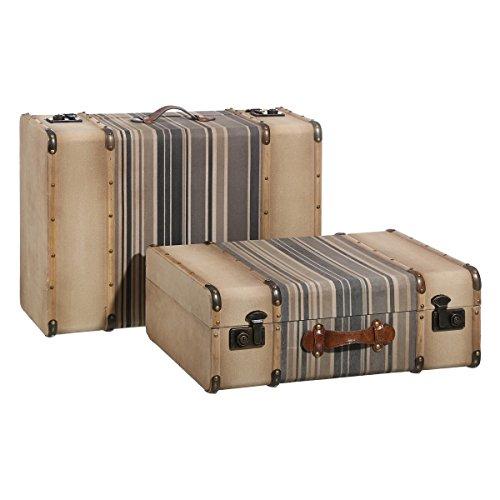 Maletas de baúl vintage beige de madera para decoración Bretaña - Lola Derek