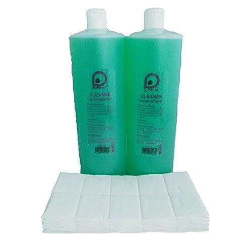 2 Cleaner Dégraissant 2X1L + 100 carrés de cellulose OFFERT.