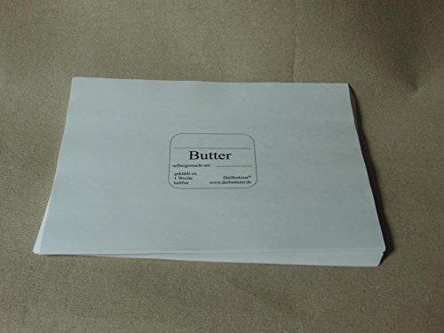 DerButterer Pergamentpapier bedruckt (50 Stück)