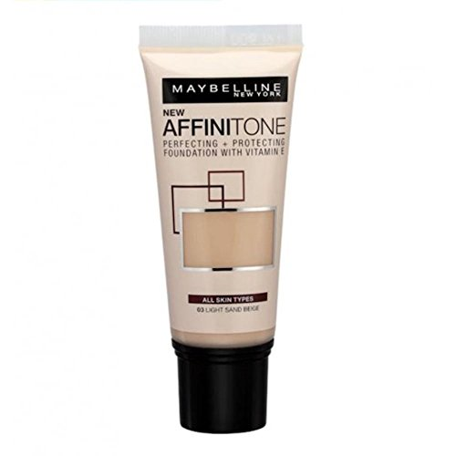 Maybelline New Affinitone Perfecting & Protecting Foundation - 03 Light Sand Beige by Maybelline