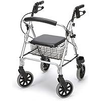 DIETZ Reha-Produkte 4575008444, Dietz Ligero Leichtgewichtrollator Aluminium Rollator Korb PU Bereifung Sitzhöhe 56 cm