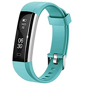 Lintelek Fitness Armband Neu Fitness Tracker Sport Uhr Smart Bracelet Notifications Anrufe SMS Nachrichten Reminder Smartwatch Schrittzähler Schlaftracker Aktivitätstracker