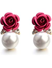 eaaec00f0 Shining Diva Fashion AAA High Quality Floral Gold Plated Stylish Fancy  Party Wear Earrings For Women