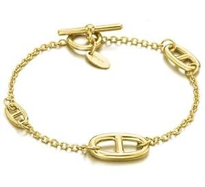leCarré Chain Sterling Silver bracelet 18ct Gold Plated - 18 cm length